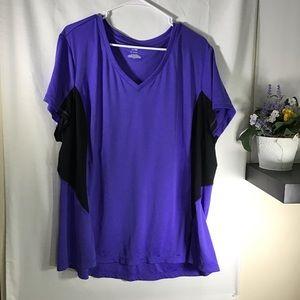 🍁TeK Gear DryTEK Purple and Black Size 3X